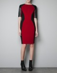 Body-Con Dress With Leather Detail, Zara.com